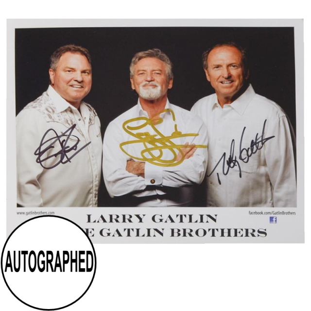 Gatlin Brothers AUTOGRAPHED 8x10-White Shirts