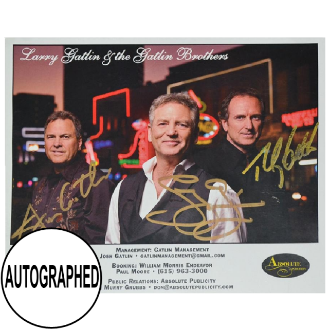 Gatlin Brothers AUTOGRAPHED 8x10- Browadway, Nashville